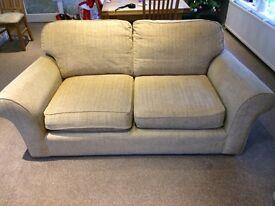 Two M&S cream sofas