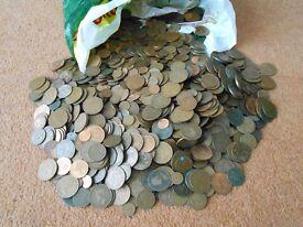 10 kg of British coins. Bulk lot.