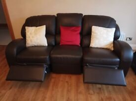 3-2-1 Leather sofa all recliners