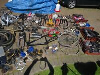 JOB LOT BIKE PARTS LOTS OF NEW AND USED BIKE SPARES