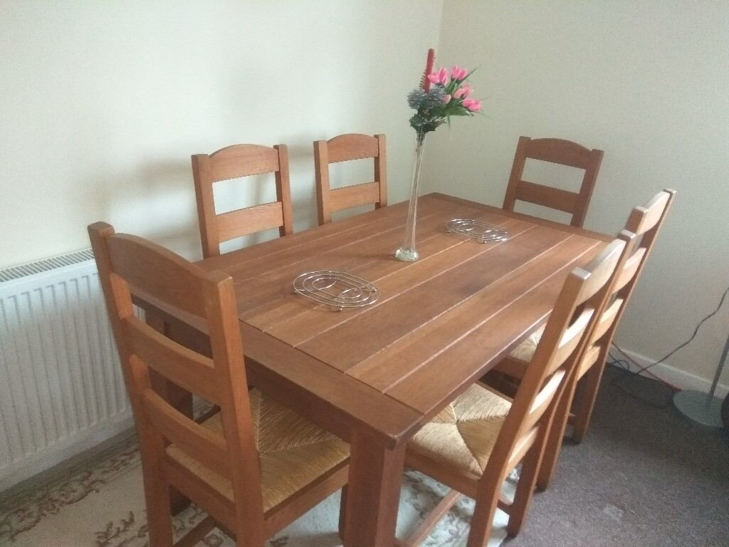 Urgent Dining Table 6 Chairs For Gbp 150 00 Like New