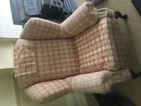 Vintage/antique wingback armchair