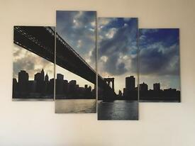 NEW YORK NEW YORK CANVAS PRINT! RRP £80