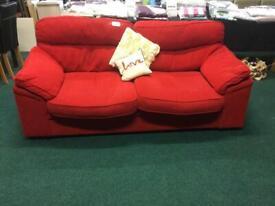 Red Corduroy Sofa