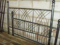 "Solid Metal Bed Frame (double bed) 4ft 6"" width"