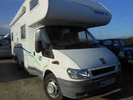 FORD CHAUSSON Motorhome 125 T350 4 Berth 2 Rear Seatbelts 2.4 Diesel 53plate Service history REDUCED