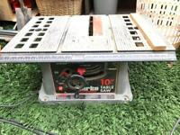 CLARKE WOODWORKER TABLE SAW 10 INCH CUTTER SAW CYS10PL BENCH