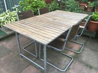IKEA Garden Table + 4 armchairs