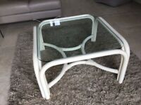 VINTAGE Bamboo Cane Coffee Table Glass Boho Tiki Wicker ANGRAVES Mid Century