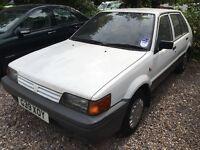 Nissan Sunny Premium 1392cc Petrol 5 speed manual 5 door hatchback G reg 14/09/1989 White