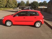 Vw polo 2008 5 door in red full service history