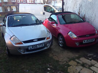 FORD STREETKA 1.6 LUXUARY CONVERTABLE PINK COLOUR AND SILVER