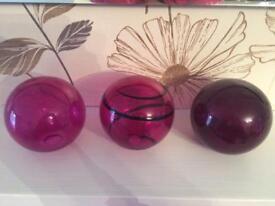 Next purple decorative balls