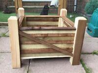 Garden wooden planter x2