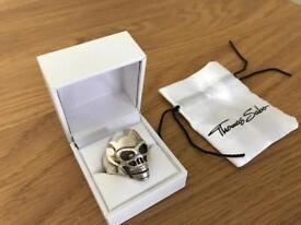 Thomas Sabo Rebel at Heart Silver Skull Ring Large Size 66