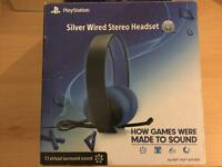 Official Sony Silver Headset