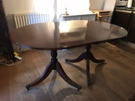 Reproduction Victorian-style table, seats up to ten comfortably