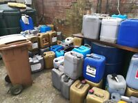 Free !heating oil old oil free in containers free