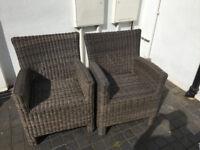 2 Bellagio rattan chairs