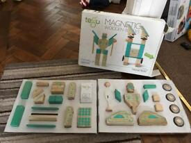 Tegu magnetron magnetic wooden block toy