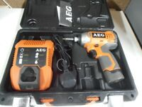 AEG 12volt Lithium Cordless Drill set as New
