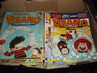 JOB LOT BEANO COMICS RUNNING THRU 2000 TO 2003