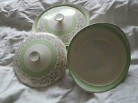 Crown clarence serving dishes 25cm diameter.