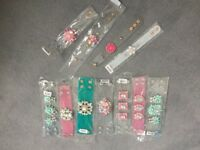 Women's Plastic Diamanté gem cuff bangle bracelets bundle