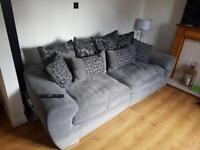 Sofa & cuddle chair for sale