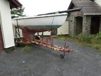 Scimitar day sailing/racing keel boat