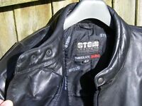 Black leather motorcycle jacket by Stein - execellent used condition