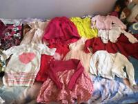 Girls dresses and cardigans