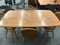 Sold stunning original Ercol plank Table. Retro vintage Mid Century