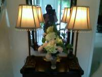 """Psir of 30"""" tall vintage table lamps"""