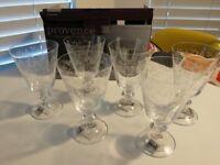 Crystal wine glasses - set of 6