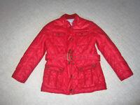 Monsoon Girl's Red Wendy Wax Jacket 9-10 years
