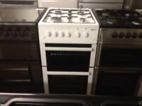 White 50cm gas cooker