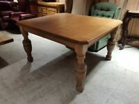 Solid Oak Edwardian Kitchen Table
