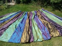 Professionally made fleece lined curtains in silk style material