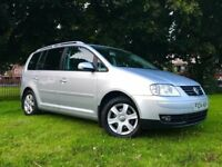 2004 VW TOURAN 2.0 TDI SPORTS *** FULL LEATHER HEATED SEATS *** LONG MOT *** CAM BELT REPLACED