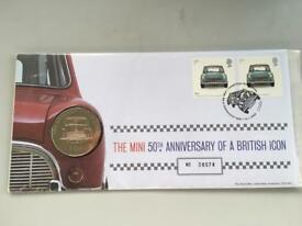 The Mini 50th Anniversary of a British Icon stamps and coin set mint condition.