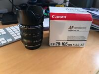 Canon EF 28-105mm f/3.5-4.5 Ultrasonic Zoom Lens