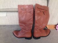 Boden brown leather boots