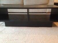 Collection (3 items) of Black TV Unit/Coffee Table, Side Table/Unit, Book/Storage Unit