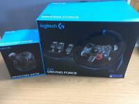 Logitech G29 wheel/pedals and shifter