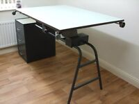 SOLD.......Architects or Artists drawing table 1960's Admel Springbrook vintage/antique.