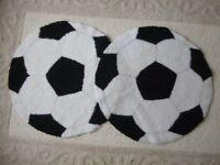 2 round Football Mats/Rugs - Great for a bedroom