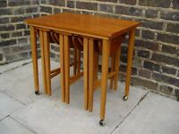 FREE DELIVERY Retro Nest Of Tables Vintage Furniture
