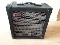Roland cube amplifier and mic
