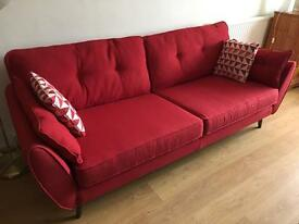 FRENCH CONNECTION - LARGE FOUR SEATER SOFA!